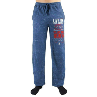 Playstation Live in Your World Play in Ours Men's Lounge Sleep Pants, Blue