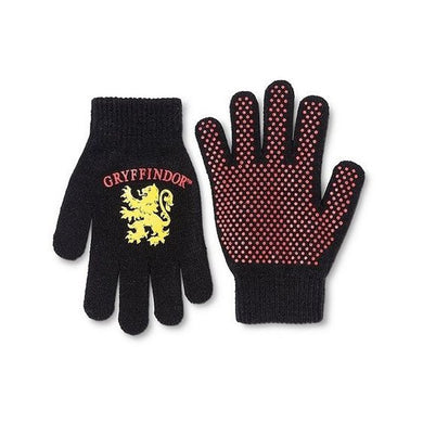 Harry Potter Gryffindor Lion Anti-Slip Grip Knit Gloves, Black