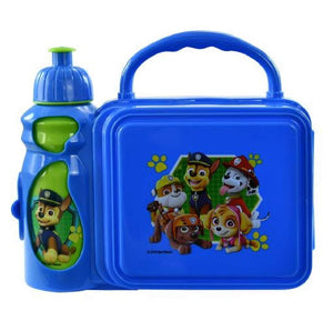 Paw Patrol Kids' Combo Blue Plastic Lunch Box with Water Bottle