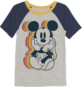 Jumping Beans Retro Mickey Mouse Boys Graphic Raglan Tee