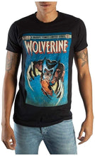 X-Men Wolverine Comic Book Cover Men's Boxed Black T-Shirt (Large)