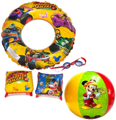 Disney Junior Mickey Mouse Super 5-Piece Goggles and Inflatable Swim Set