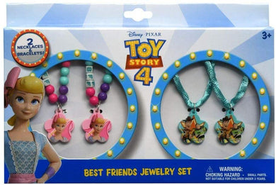 Disney-Pixar Toy Story 4 Best Friends Kid's Jewelry Set Necklaces Bracelets