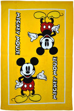 Disney Mickey Mouse Yellow 3pc Kitchen Towel Oven Mitt Pot Holder Set
