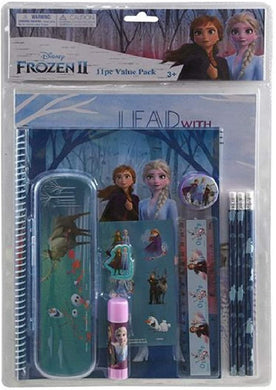 Frozen 2 11pc Value Pack with Plastic Pencil Case in PVC Bag with Header