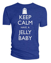 Doctor Who Tardis Keep Calm Have A Jelly Baby Mens T-Shirt, Blue