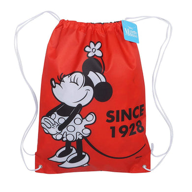 Disney Classic Minnie Mouse Since 1928 Drawstring Backpack Cinch Tote Bag