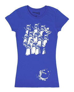 Doctor Who Dalek Space Army Juniors' Royal Blue Graphic T-Shirt
