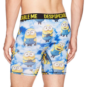 Despicable Me Minions Men's Stretch Boxer Briefs, Blue Clouds