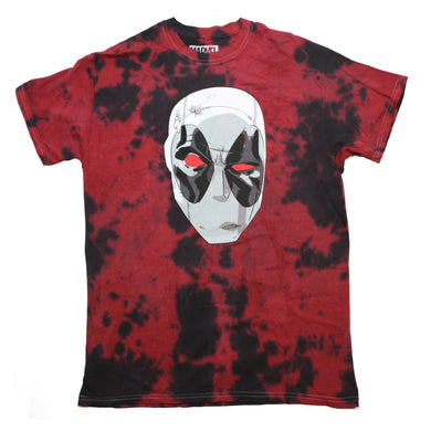 Marvel Deadpool X-Force Black & Red Tie Dye Men's T-Shirt, Medium