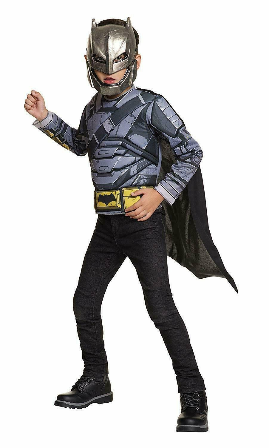 Batman Armored Muscle Chest Shirt & Mask Kid/Child's Dress-Up Costume, Size 4-6