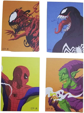 Set of 4 Loot Crate Spider-Man, Venom, Carnage, Green Goblin Face-Off 7x5