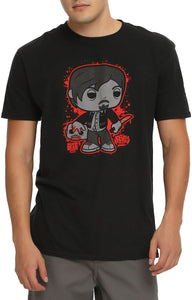 Funko Unisex-Adult's POP Tees: The Walking Dead-Daryl with Zombie Head, Black, 2XL