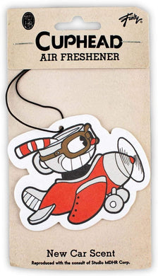 Cuphead Airplane Hanging Air Freshener for Cars, New Car Scent By LootCrate