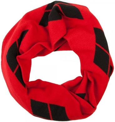 DC Comics Harley Quinn Red & Black Infinity Knit Scarf
