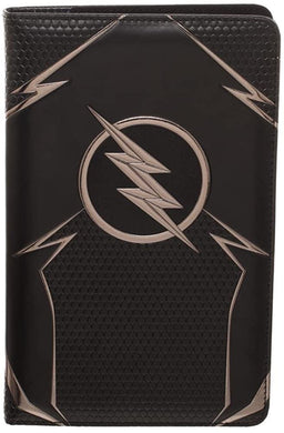 DC Comics The Flash Faux Leather Travel Journal Portfolio with ID Card Slots