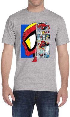 Marvel Spider-Man Profile Comics Men's T-Shirt, Heather Grey