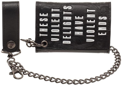 HBO's Westworld Black Trifold Chain Wallet - These Violent Delights Have Violent Ends