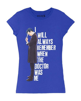 Dr Who I Will Always Remember When The Doctor was Me Juniors T-Shirt, Matt Smith