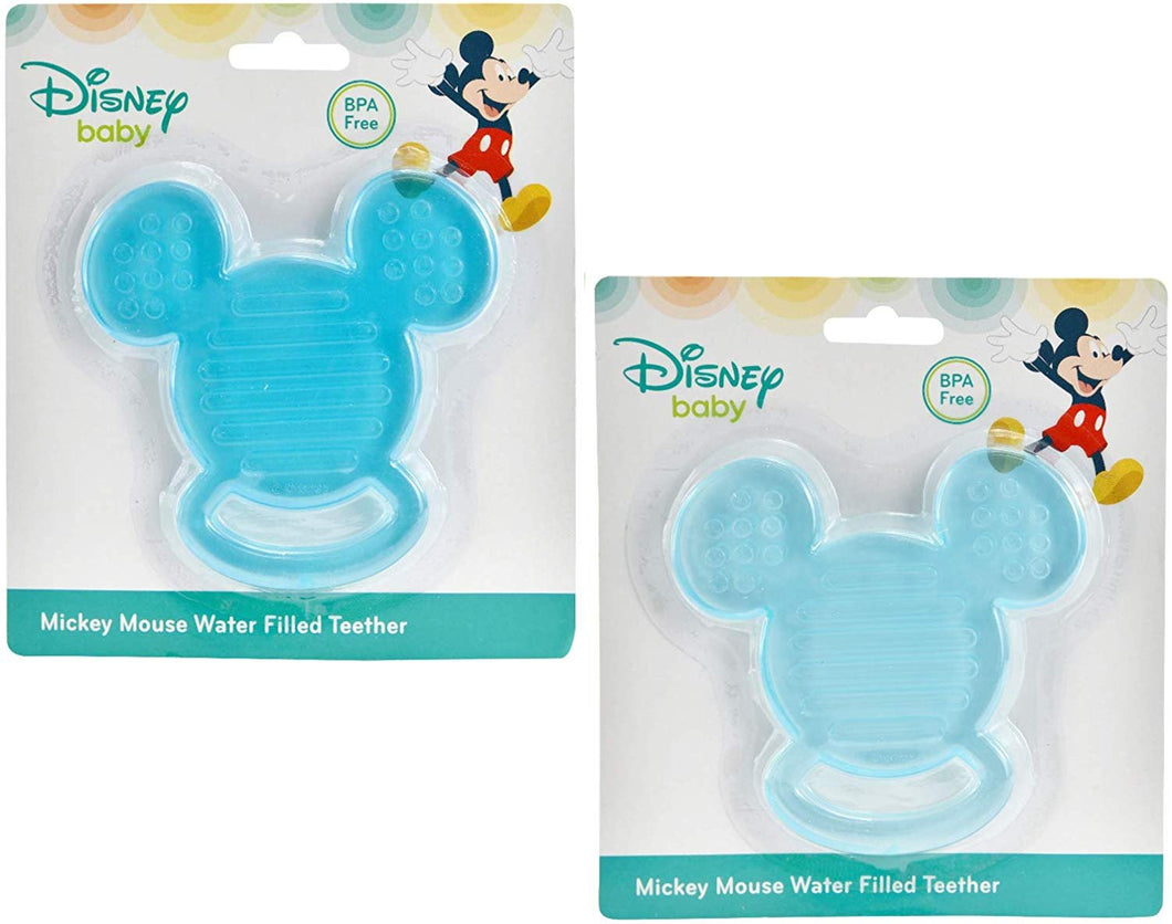 Disney 2-Pack Baby Mickey Mouse Water Filled Teether Set for Baby, Blue