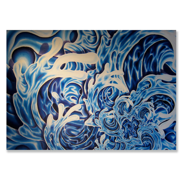 "Hanna Wave- 48"" x 68"" painting"