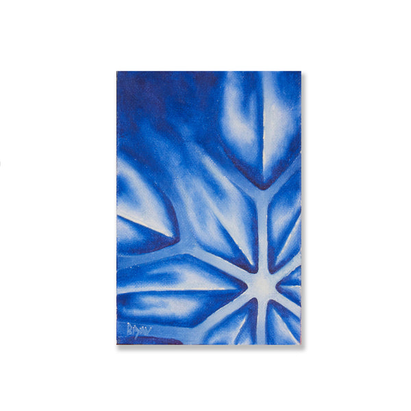 "Snow Flake Study- 4"" x 6"" painting"