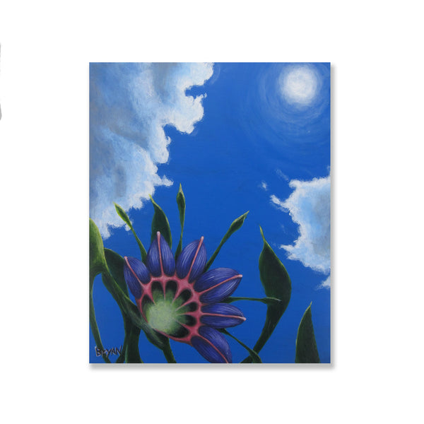 "Surreal Flower Study- 8"" x 10"" painting"