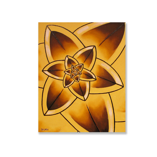 "Yellow Bloom Study- 18"" x 24"" painting"