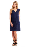 Ladies Linen Sleeveless Dress (3916)