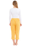 Ladies Striped Linen Trousers (4021)