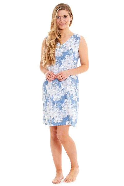 Ladies Floral Linen Dress (4022)