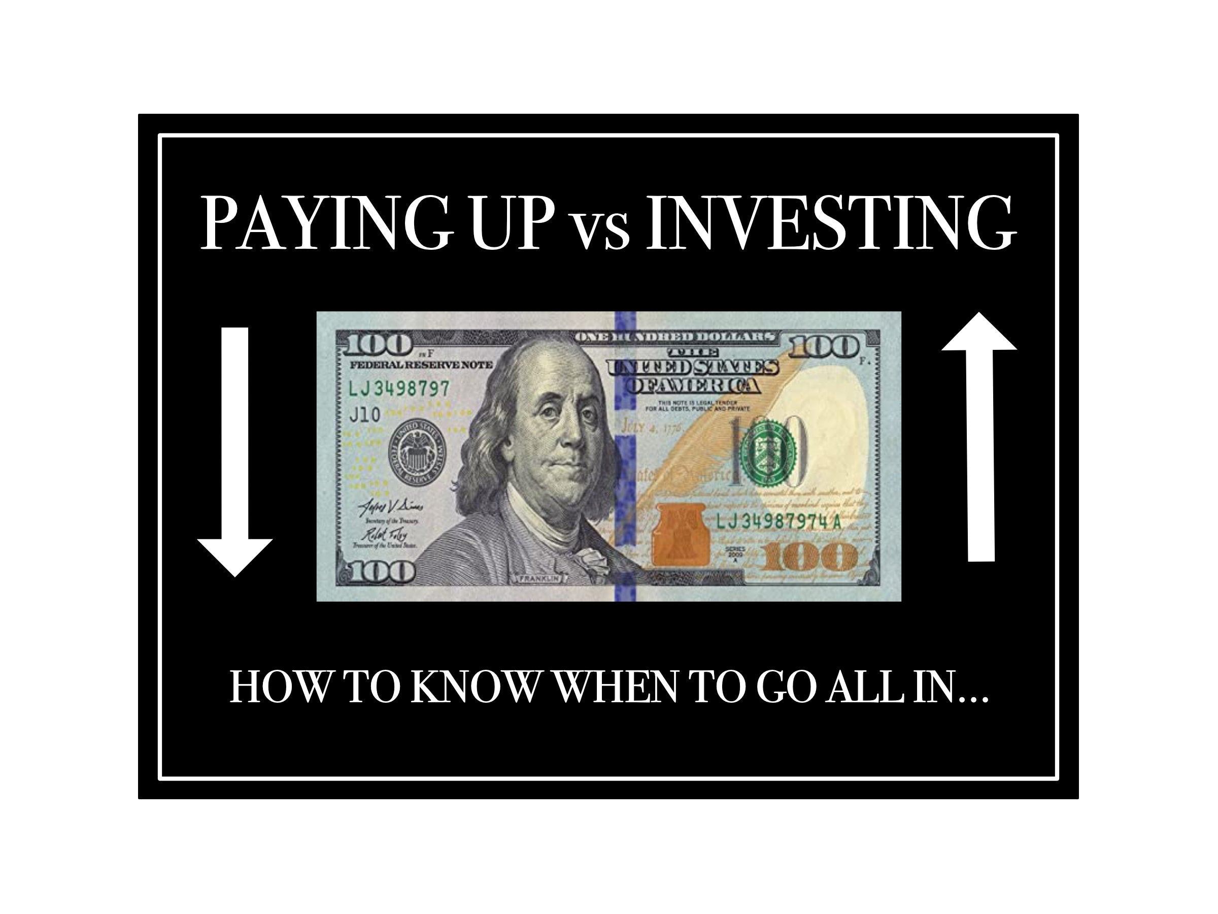 Paying Up vs Investing: How a single word can hold your business back