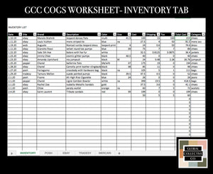 GCC CUSTOMIZABLE COGS TRACKER