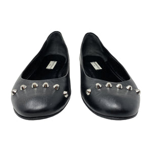 Balenciaga Studded Ballet Leather Flats Size EU 39.5