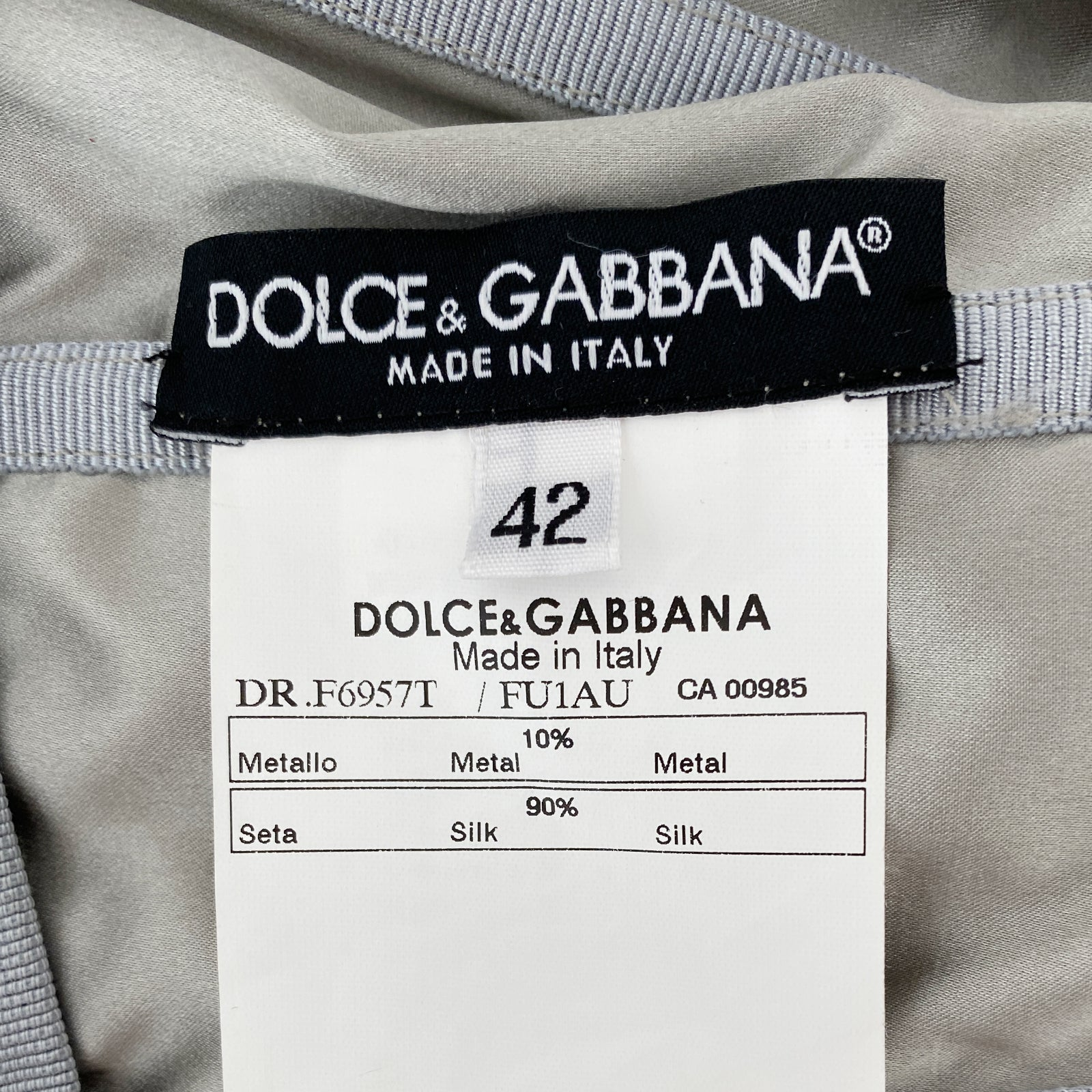 Dolce and Gabbana Silk and Chain Dress Size It 42/ US 6