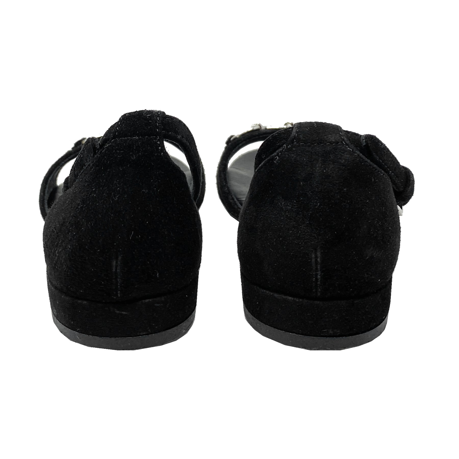 Gucci Girls Toddler Horsebit Suede Sandals Size EU 25