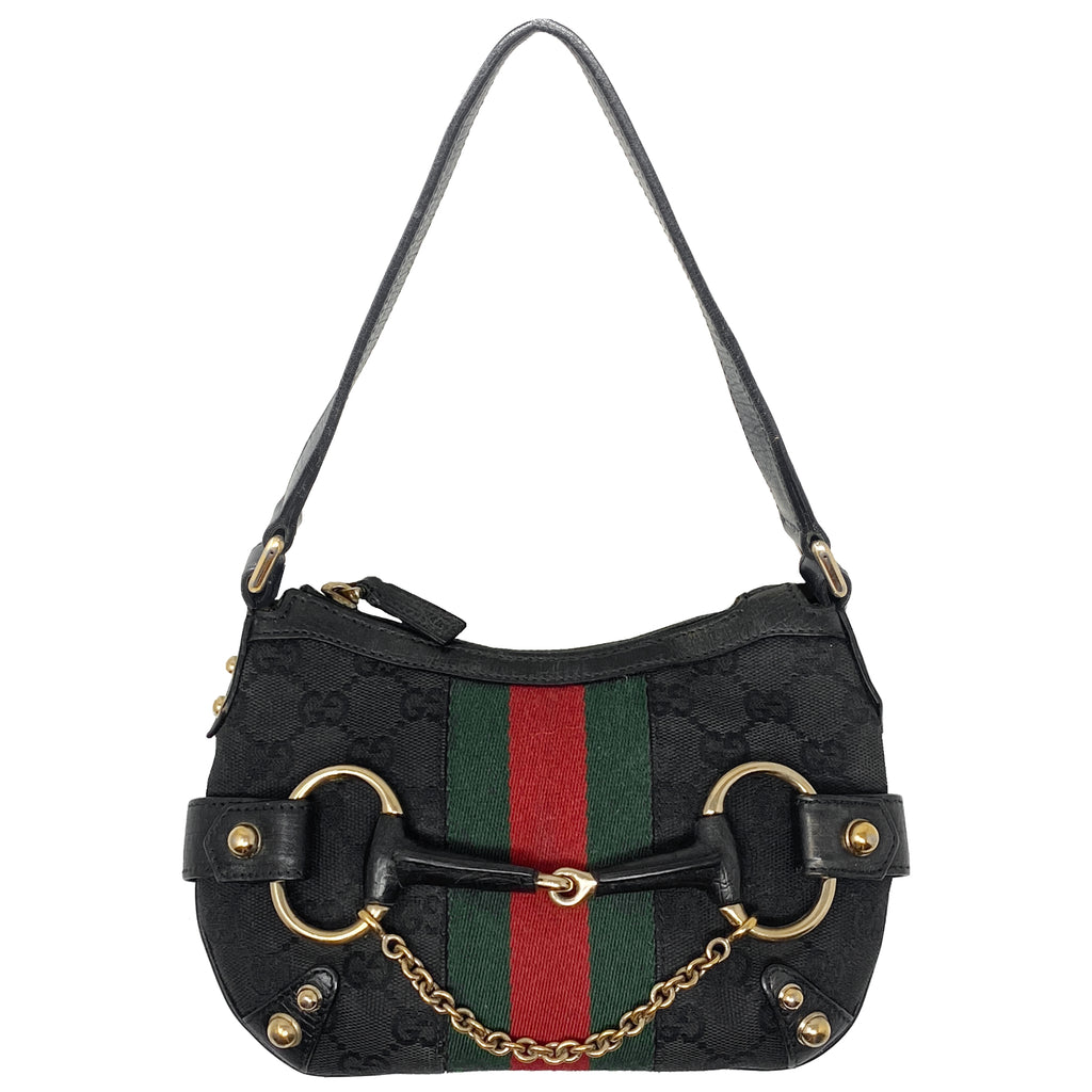 Gucci Mini Monogram Web Horsebit Bag