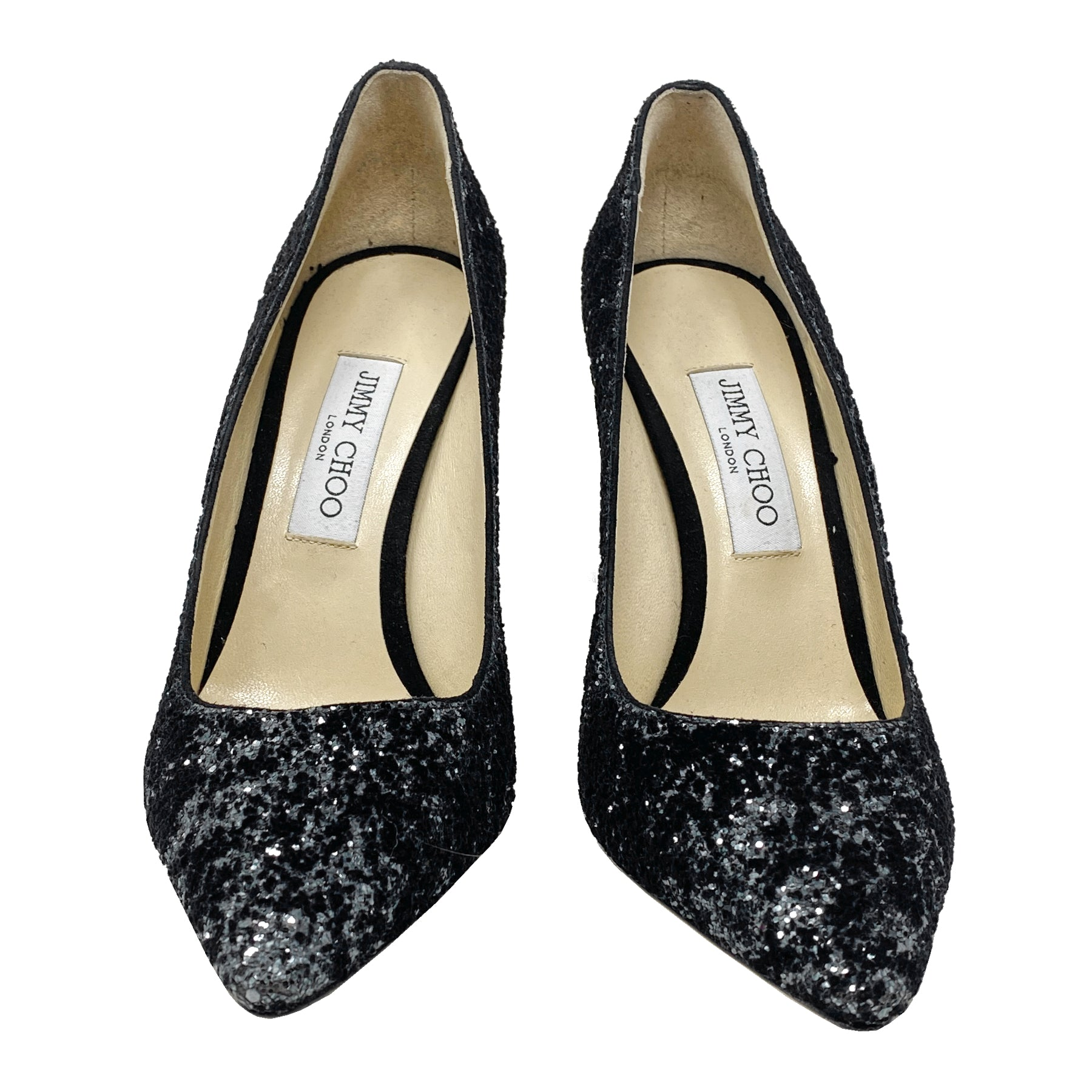 Jimmy Choo Romy 100 Glitter Pointed Pumps Size EU 40