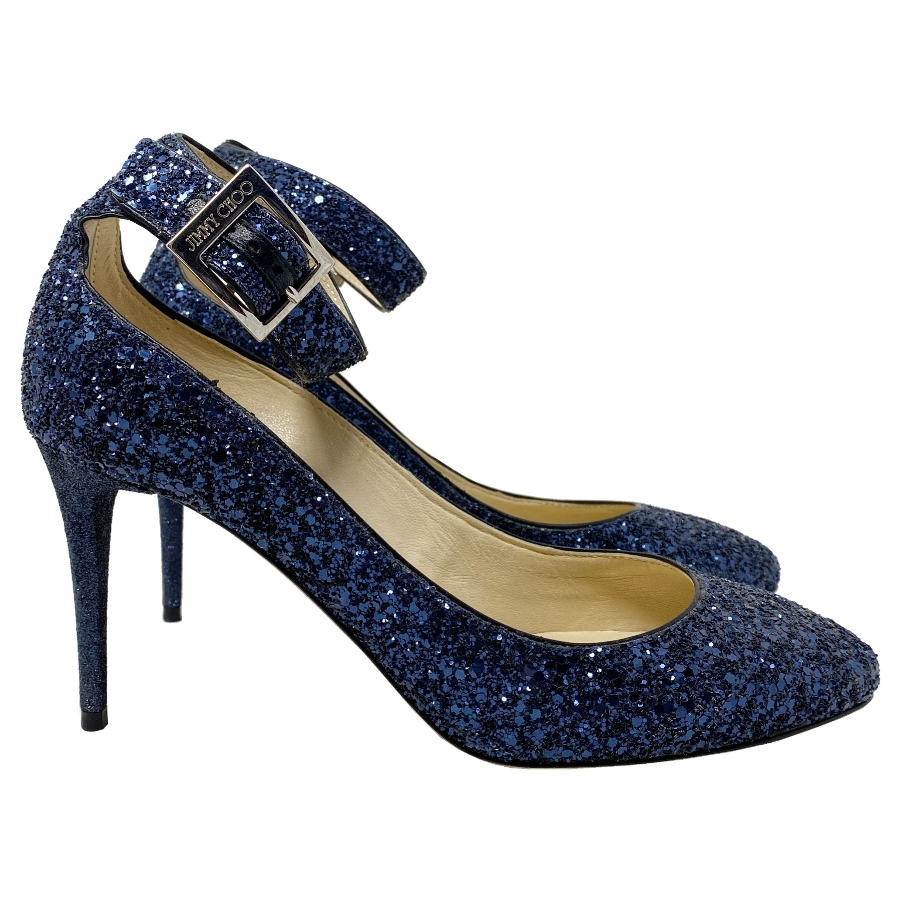 Jimmy Choo Helena 85mm Glitter Pumps Size EU 37