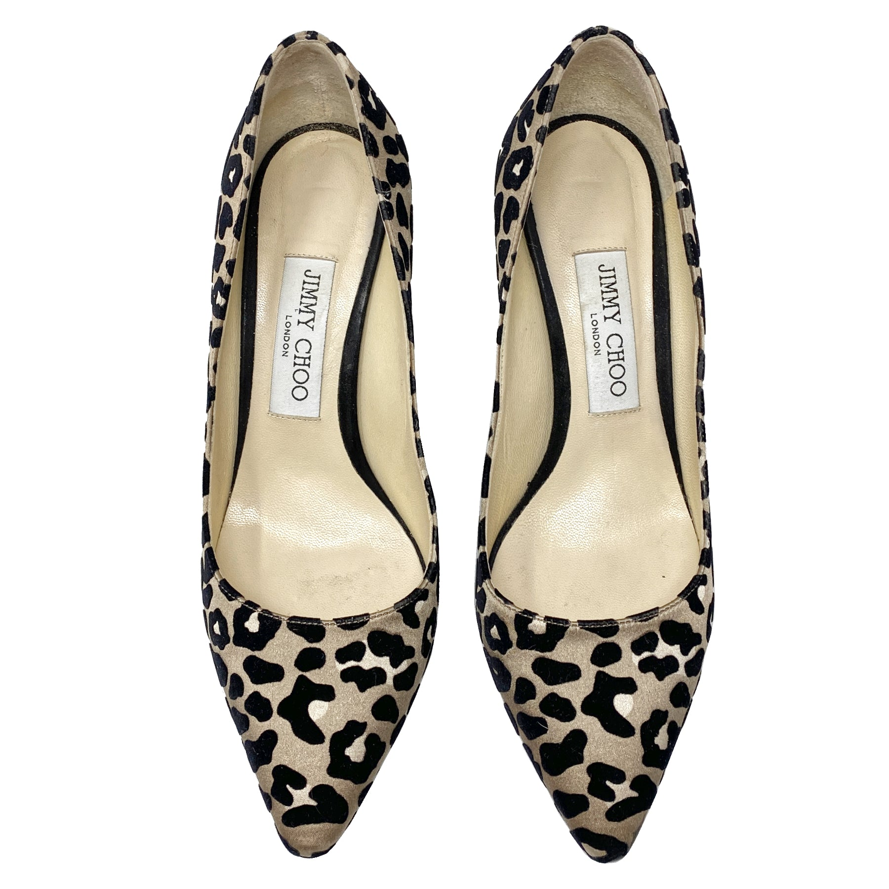 Jimmy Choo Romy 85mm Leopard Pumps Size 37