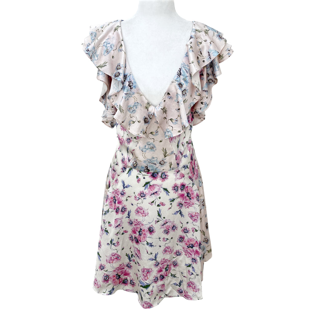 LoveShackFancy Frankie Silk Floral Mini Dress Size 10