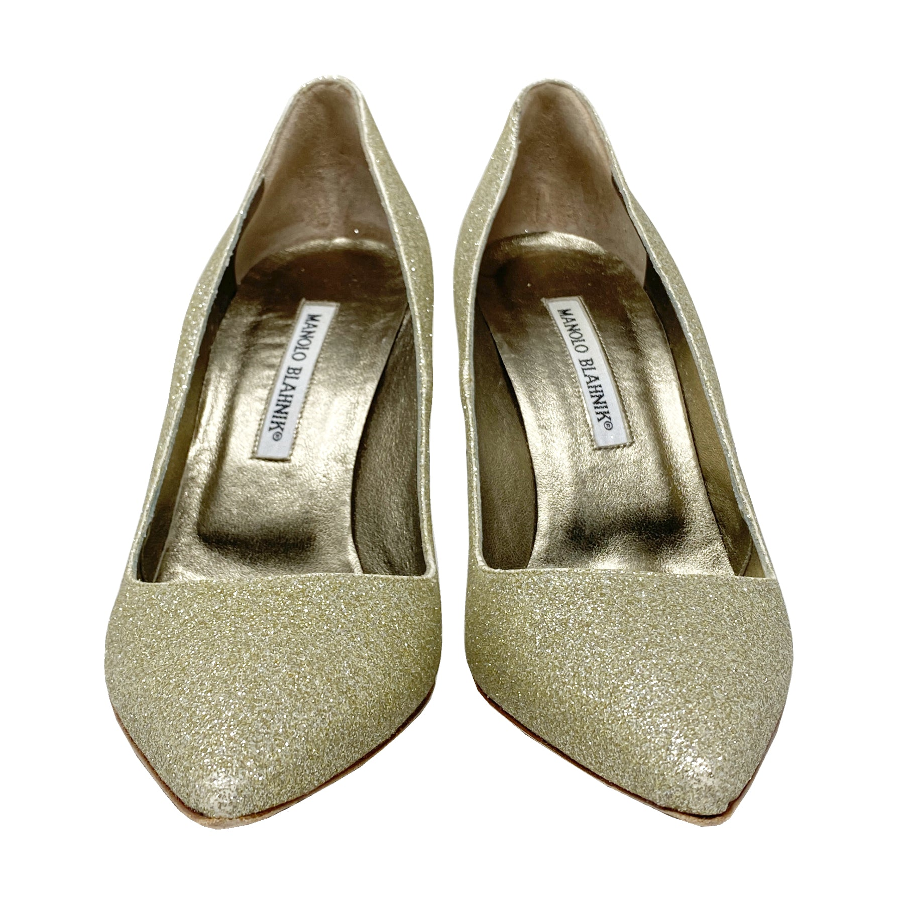 Manolo Blahnik BB 105 Pointed Toe Pumps Size EU 39.5