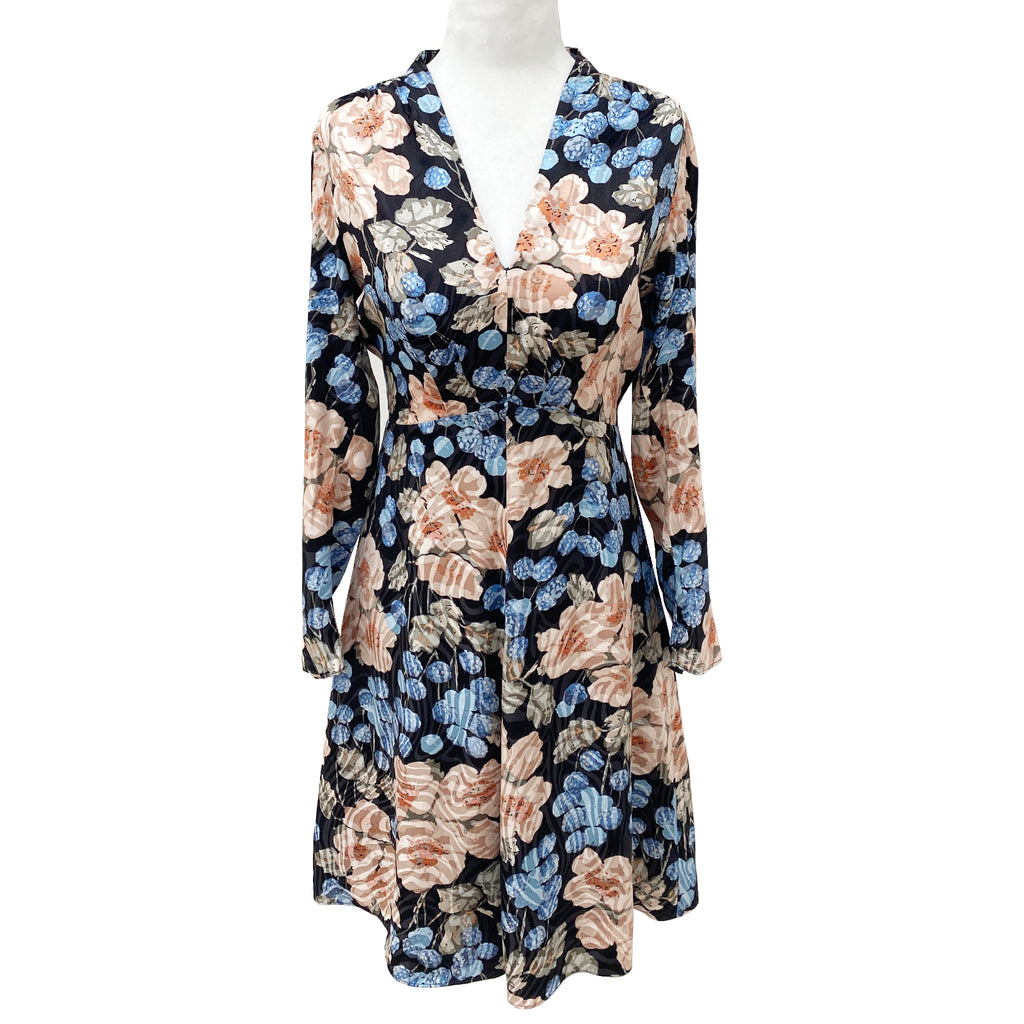 Rebecca Taylor Floral Silk Blend Mini Dress Size 0