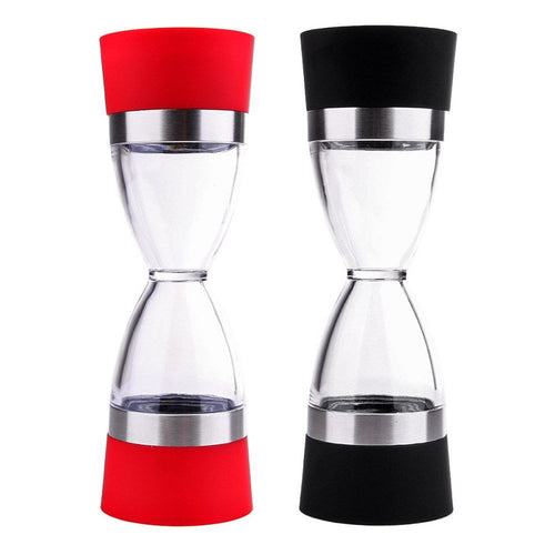 2 in 1 Salt and Pepper Grinder - Black and Red