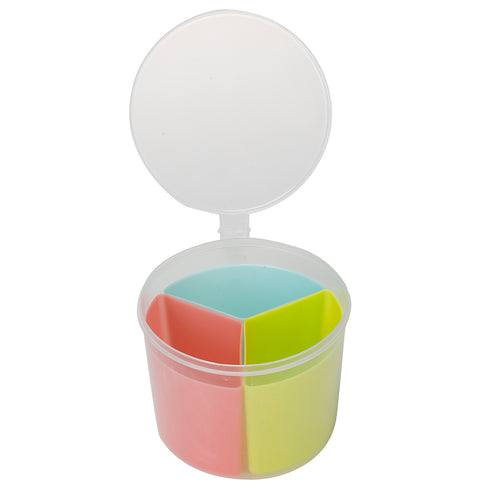 3 in 1 Multicolor Airtight Food Container