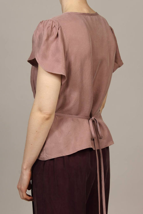 Cupro Parachute Bloomfield Top - Dusty Pink
