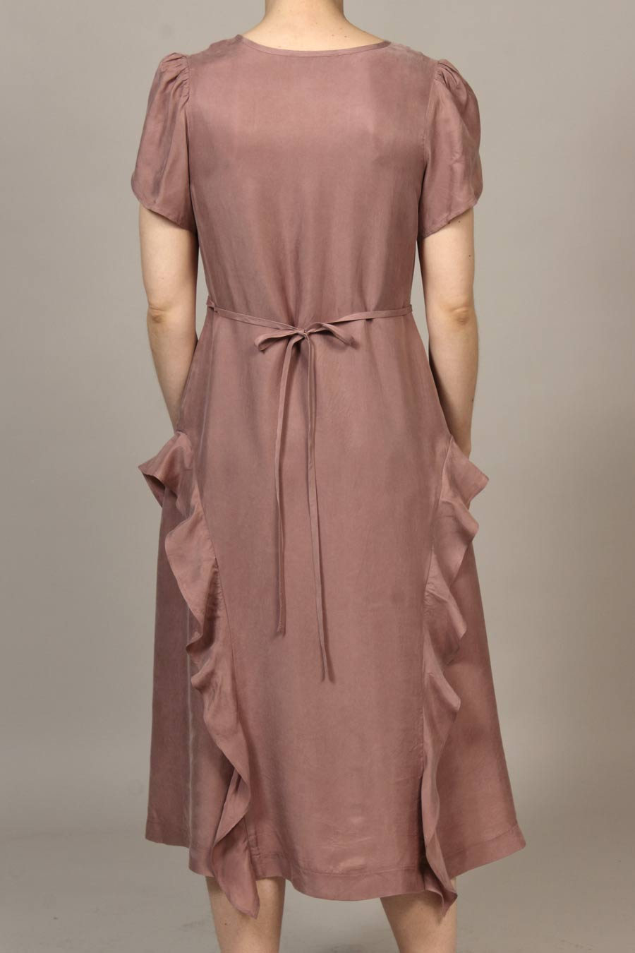 Cupro Parachute Bloomfield Dress - Dusty Pink