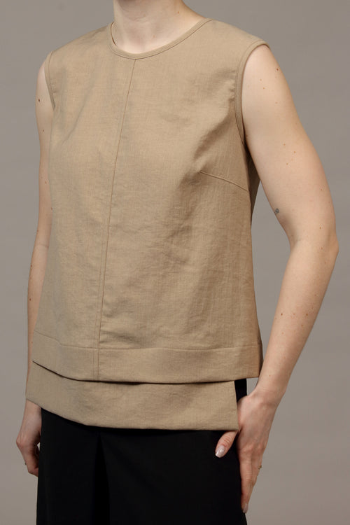 Tech 'Linen' Manning Top - wheat