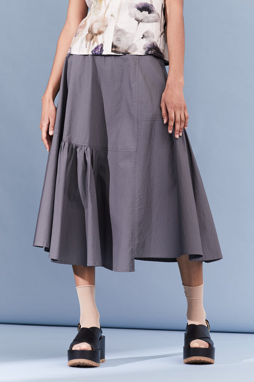 Utility Cotton Corn Skirt - workwear blue
