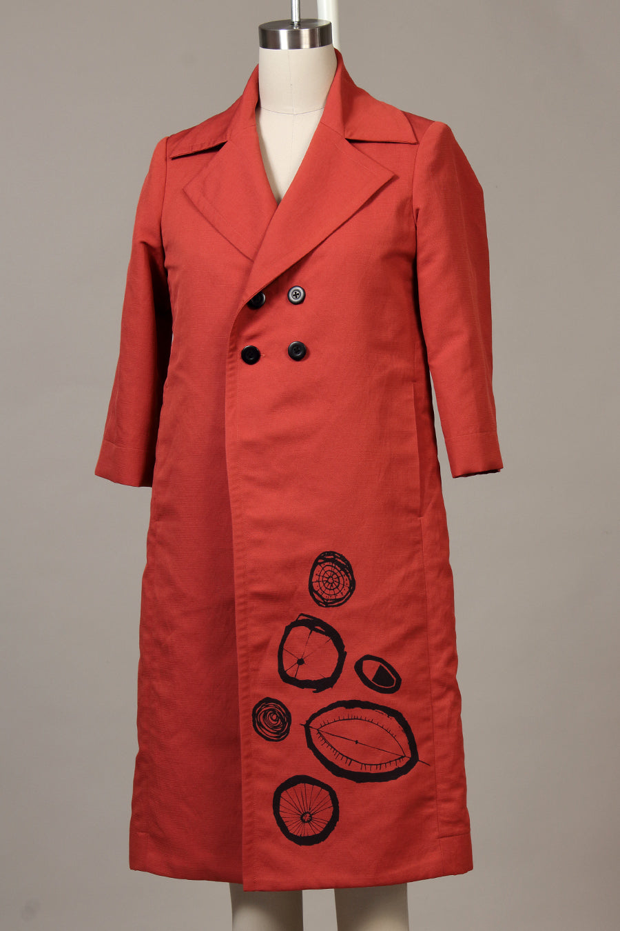 Double Basket Weave Garden Coat - rosehip